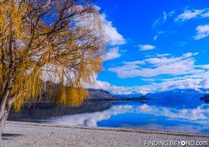 Lake Wanaka beach, New Zealand
