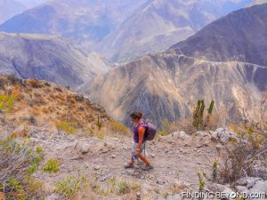Walking trail at Colca Canyon, Peru
