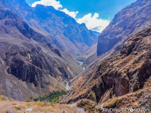 A path view of Colca Canyon, Peru