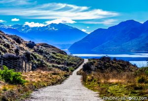 Walking and cycling trail, Lake Wanaka, New Zealand