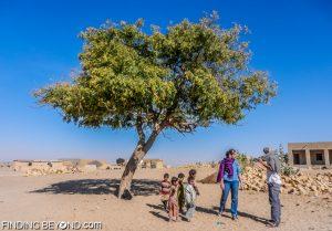 Local children in a Thar Desert village, India