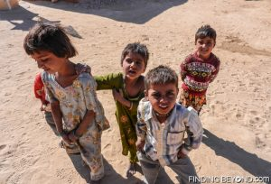 Local children in a Thar Desert village, India