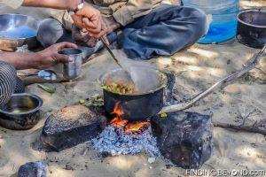 Portable kitchen in the Thar Desert, India.