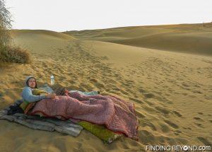 Thar Desert bedroom as the sun is rising