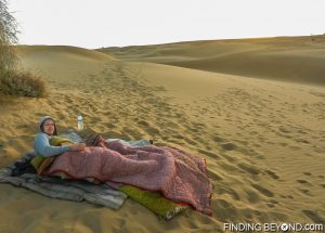 Thar Desert bedroom as the sun is rising