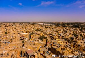 Fort lookout view of Jaisalmer, India