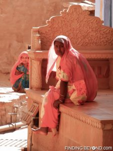 Local woman inside Jaisalmer Fort