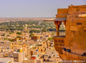 Jaisalmer Fort balcony with a view