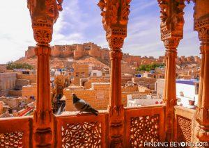 Looking back at Jaisalmer Fort from Patwon-ki-Haveli