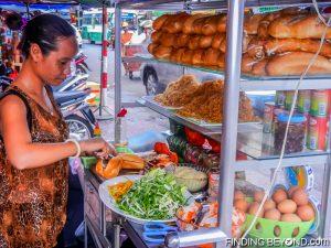The Vietnamese Bahn Mi. A cheap and tasty baguette sandwich found everywhere.