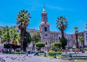 Arequipa's main square in Peru