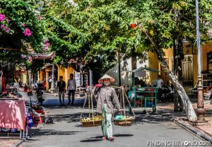 Fruit seller in Hoi An, Vietnam.
