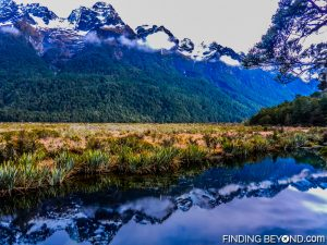 Mirror Lakes, on the way to Milford Sound, New Zealand