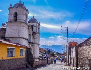 Huancarqui street in Peru