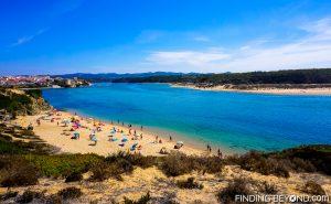 Looking inland to Vila Nova de Milfontes estuary, Portugal. Portugal Highlights for a 2 Week Itinerary.