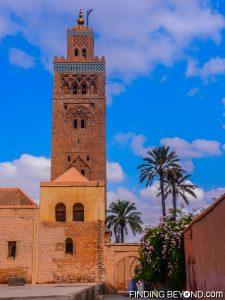 The minaret of Koutoubia Mosque, Marrakech.