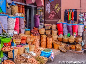 Spice and herb shop in the medina, Marrakech.