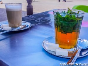 Local mint tea and coffee in Marrakech