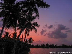 Sunset view. Must See Places in Kerala - Kerala Backwaters.