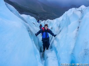 Climbing glaciers in New Zealand. Tips on How to Save Money for Travel.