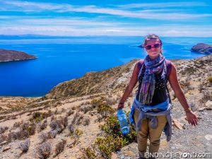 Trekking lake Titicaca, Bolivia. Tips on How to Save Money for Travel.