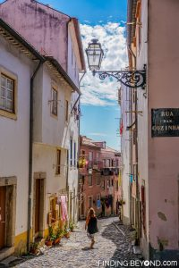 Alfama street. Things to do in Alfama District - Lisbon Old Town.