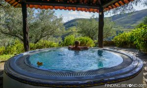 Guesthouse jacuzzi. Our guide to the Douro Valley, Portugal.