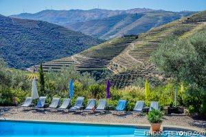 Guesthouse pool. Our guide to the Douro Valley, Portugal.