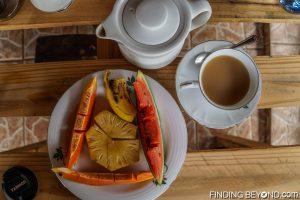 Fresh fruit for breakfast at D-Villa Negombo, Sri Lanka. Things to do in Negombo Beach? Don't Expect Much.