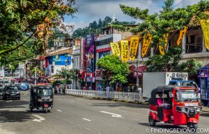 One of Kandy's main streets. Top 5 Things to do in Kandy City in One Day.