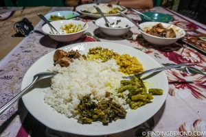 Tasty veg curries at Nilmini. Things to do in Ella, the beautiful Sri Lanka Hill country base town. Including the best walks, restaurant recommendations and accommodation.