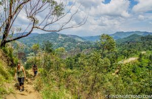 Where the incline starts to increase and views widen. Mountains in Sri Lanka - Little Adams Peak: A Photo Journey.