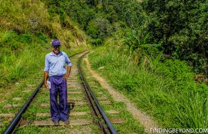 A friendly postman we met who walks 15KM a day along the tracks delivering mail. Hiking in Sri Lanka is a must when visiting the island and Ella Rock is a highland highlight. We documented our climb to the top with some wonderful photos.