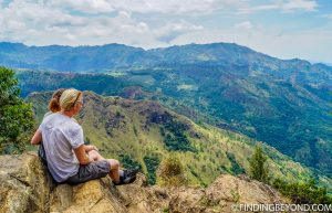 Top of Little Adam's Peak. Things to do in Ella, the beautiful Sri Lanka Hill country base town. Including the best walks, restaurant recommendations and accommodation.
