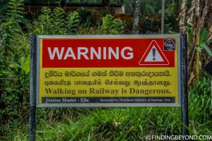 An obvious warning sign :) Hiking in Sri Lanka is a must when visiting the island and Ella Rock is a highland highlight. We documented our climb to the top with some wonderful photos.