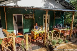 Green Lantern Inn terrace. Things to do in Ella, the beautiful Sri Lanka Hill country base town. Including the best walks, restaurant recommendations and accommodation.