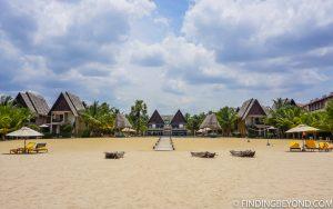 One of the beach resorts on Pasikuda beach. Kalkudah and Pasikuda Beaches - Sri Lanka.