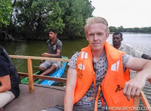 Me with the two guides behind. Pottuvil Lagoon and it's Elephant Inhabitants.