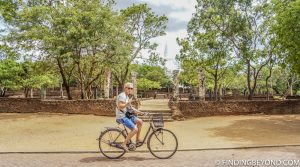 Cycling the ruins of Polonnaruwa in Sri Lanka.
