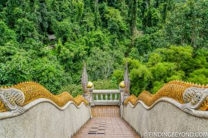 Wat Tham Pha Plong steps. Top 10 Things to do in Chiang Dao.