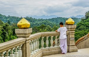 View point at the top of Wat Tham Pha Plong. Top 10 Things to do in Chiang Dao.