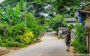 Walking through a Chiang Dao village. Top 10 Things to do in Chiang Dao.