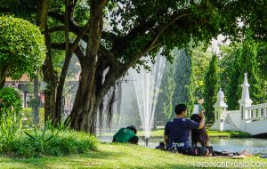 Suan Buak Haad park. Sometimes it's nice to find a park to simply sit back and relax for a few hours. Well there's a Chiang Mai Park in the old town where you can do just that.