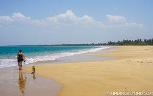 Kalkudah beach on the east coast