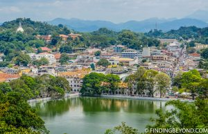 Kandy city from the viewpoint