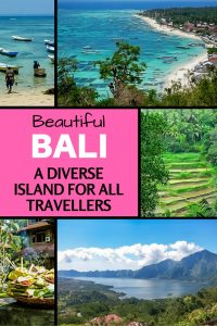 Beautiful Bali in Indonesia is such a diverse island. Read on to explore the highlights that show Bali has something for any kind of traveller.