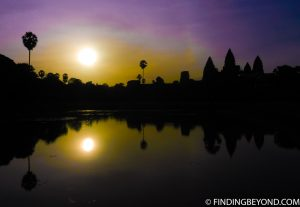 Sunset at Angkor Wat in Cambodia