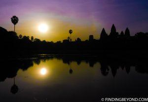 Sunset at Angkor Wat in Cambodia