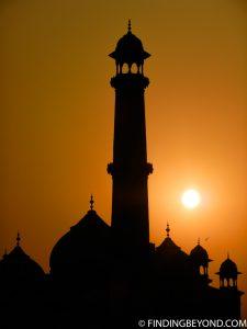 Sunset at the Taj Mahal India
