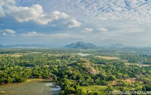 Views from the top of Lion Rock in Sigiriya